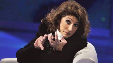Anna Marchesini è morta. Nella foto durante la partecipazione a Che tempo che fa (Olycom)