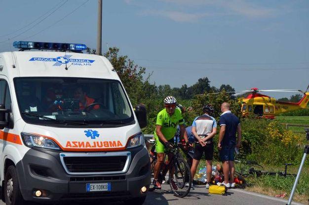 Alcuni dei ciclisti colpiti