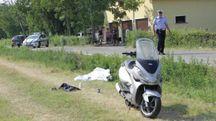 La salma e i rilievi della polizia municipale Tresinaro Secchia