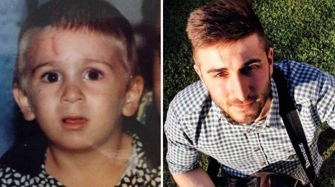 Francesco Titti in una foto da piccolo e adesso