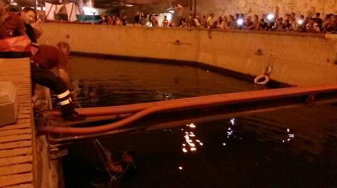 Il salvataggio nel canale