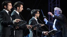 Il Volo in concerto a Firenze lo scorso luglio, a marzo 2017 riparte il tour (Pressphoto)