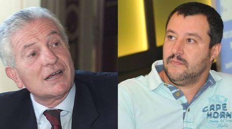 Achille Serra (Pressphoto) e Matteo Salvini (Newpress)