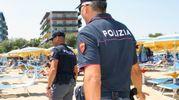 Polizia sulla spiaggia (Fotoprint)