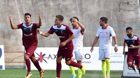 esultanza gol fano 0-2