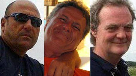 Da sinistra Mauro Cammardella, Mauro Tancredi e Silvio Anzola (Ansa)