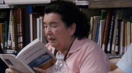 Teresina Giuliana Pavan durante la presentazione di un suo libro
