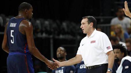 Coach K e Kevin Durant (LaPresse)