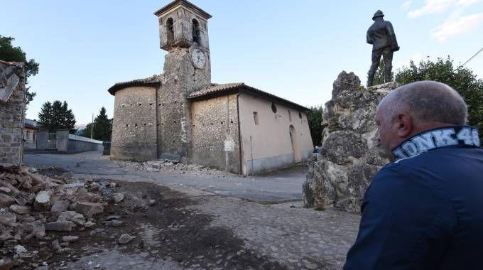 Il paese di San Pellegrino gravemente danneggiato (Foto Crocchioni)