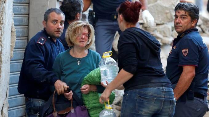 Amatrice devastata dal terremoto (LaPresse)