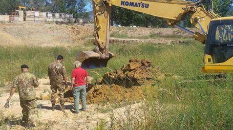 L'esplosione controllata è stata fatta in una profonda buca nel terreno