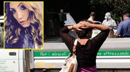 Nel riquadro Marta Baroni, trovata morta in un cassone del verde