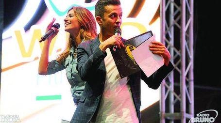 Alessia Ventura ed Enzo Ferrari, i conduttori del concertone  (Foto Brusa)