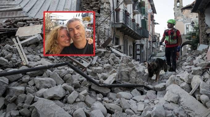 Nel riquadro Mauro Marincioni e la moglie Gabriella Sargeni