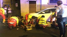 Incidente stradale in via Terreni a Livorno (foto Novi)