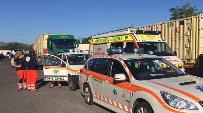 I soccorritori toscani (foto di Fabrizio Morviducci)
