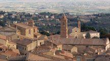 Una veduta panoramica di Montepulciano
