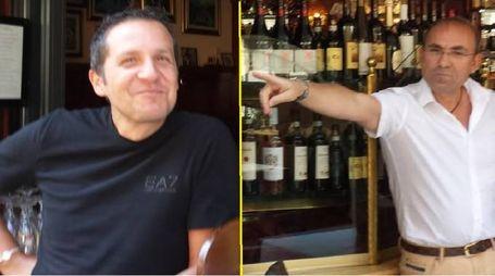 A sinistra uno dei titolari di Papà Francesco, a destra il titolare del Bar Marino