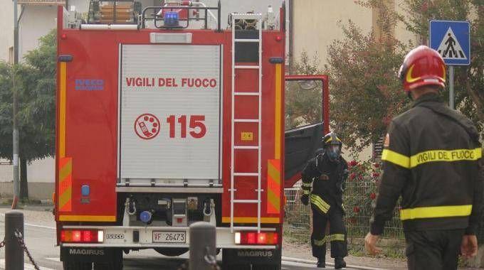 I Vigili del fuoco in una operazione