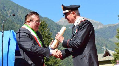 Campodolcino, conferita la cittadinanza onoraria al generale Tullio Del Sette