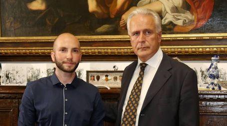 Niccolò Campriani e Eugenio Giani (foto Germogli)