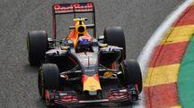 F1, Max Verstappen sul circuito di Spa (Afp)