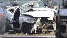 L'auto incidentata (foto Aprili)