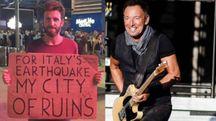 Il fan che ha chiesto a Springsteen di cantare per i terremotati italiani