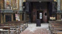 I danni al santuario di Santa Maria in Via