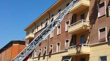 Il palazzo di corso Saffi dove è scaturito l'incendio