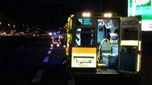 Numana, ambulanza coinvolta in un incidente in A14