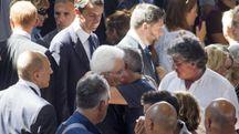 Terremoto, il presidente Mattarella ad Ascoli per i funerali delle vittime (Foto Ansa)