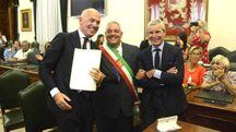Bucci, il sindaco e Chigiotti