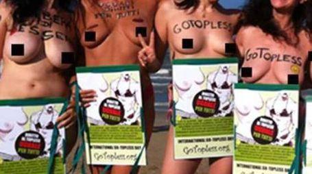 La manifestazione organizzata da «Go Topless» si terrà oggi in piazzale Roma dalle 17,30 in contemporanea con altre 60 città nel mondo