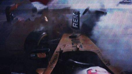 F1, l'incidente di Magnussen in Belgio (Afp)