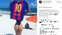 Miss Bum Bum lancia la campagna #unblockmemessi (instagram)