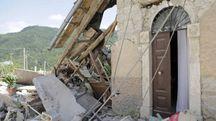 Terremoto, Pescara del Tronto distrutta (Foto Lapresse)