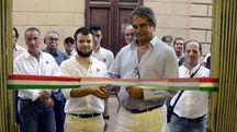 L'inaugurazione della sede di Forza Nuova a Grosseto con Fiore (foto Aprili)