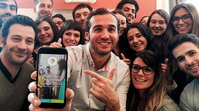 "La squadra della start up ""NightSwapping"""