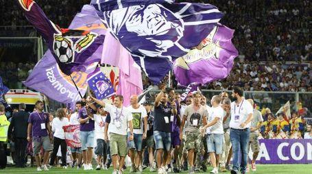 Fiorentina-Chievo, la festa per i 90 anni (foto Germogli)