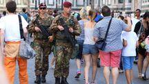 Il centro storico di Firenze è presidiato da un contingente di militari appositamente inviati per controllare le piazze