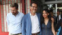Da sinistra: Matteo Lepore, il sindaco Virginio Merola e Irene Priolo (fotoSchicchi)