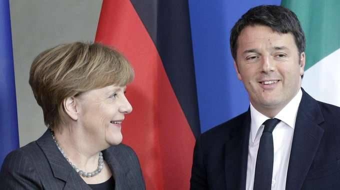 Oggi vertice Renzi-Merkel a Maranello (Foto Ansa)