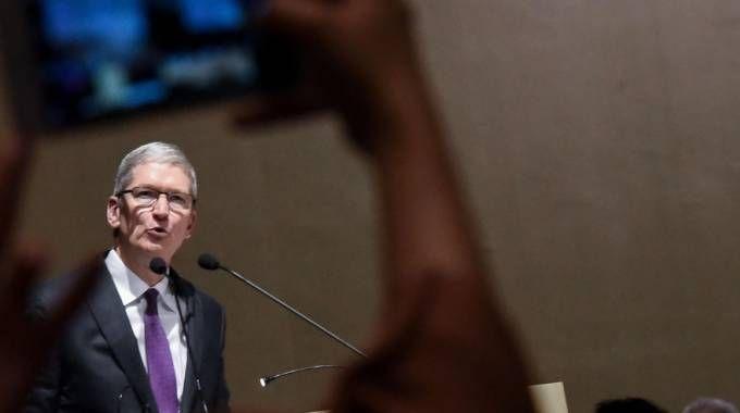 Tim Cook, a.d di Apple (Newpress)