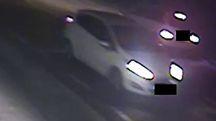 L'auto del 25enne ripresa dalle telecamere