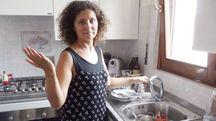 Tiziana Bernardo alle prese con problemi di acqua
