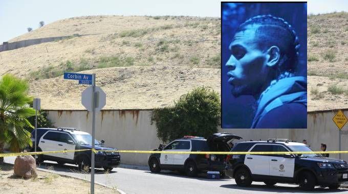 Los Angeles, polizia davanti alla casa di Chris Brown