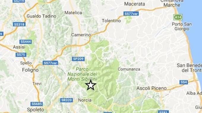 Terremoto, nuova forte scossa il 31 agosto tra Ascoli e Macerata (Fonte Ingv.it)