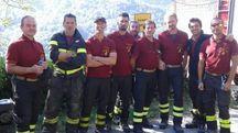 La squadra dei vigili del fuoco reggiani sul terremoto
