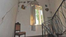 Un'abitazione lesionata a Reggiolo dal terremoto del 2012